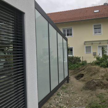 Terrassen Wand