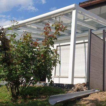 Terrasen Überdachung mit Gartenzugang